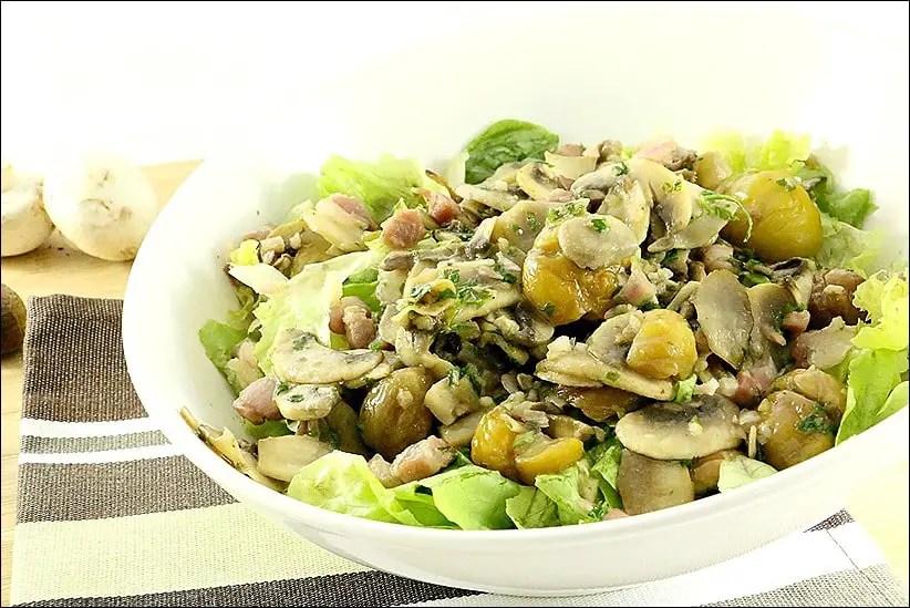 salade champignon marron