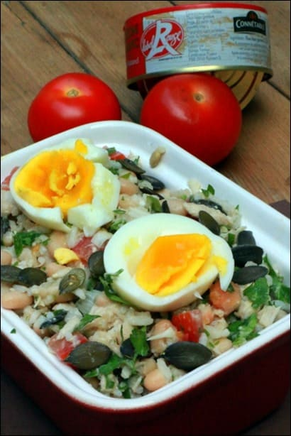 salade haricots blancs et thon