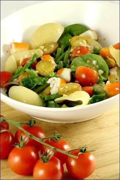 salate pates tomates surimi