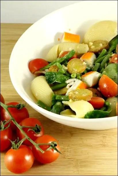 salade pates epinard
