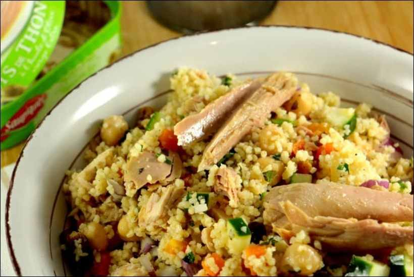 salade de semoule de couscous au thon