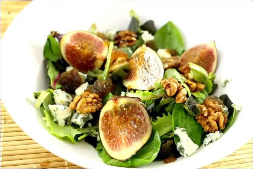 salade figue noix