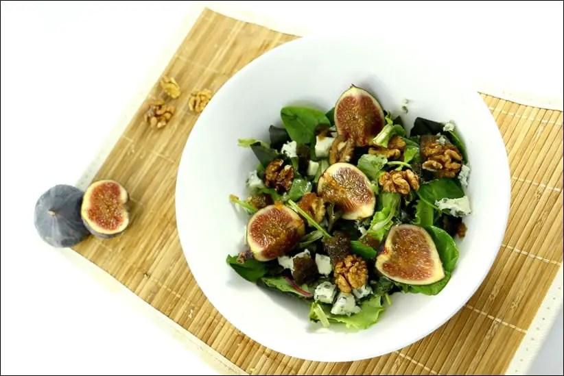 salade avec figue fraiche