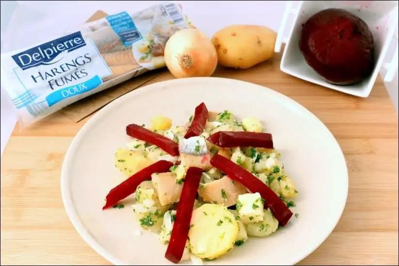 salade d'hiver au hareng fumé et tomme de brebis