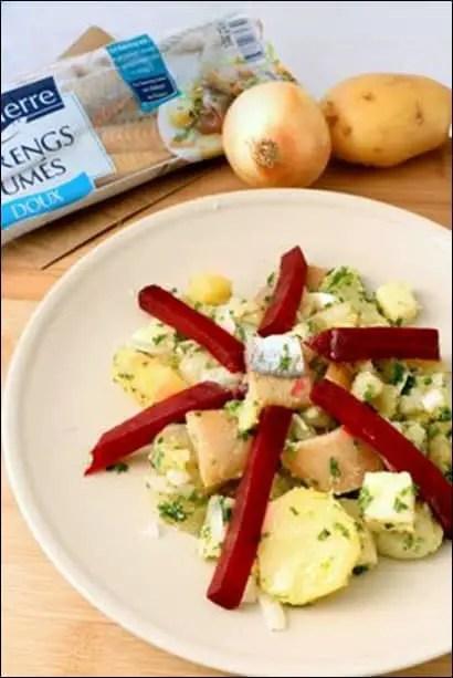 salade de hareng fumé et pomme de terre