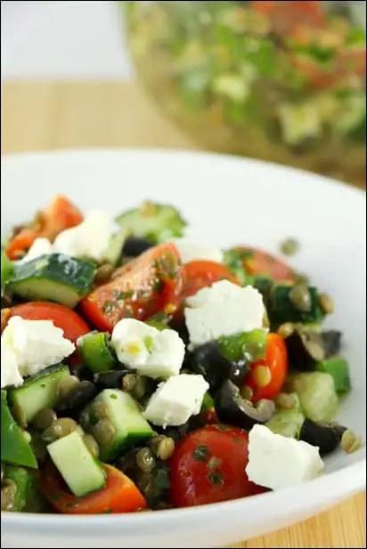 salade lentilles et feta