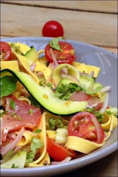 salade de pates italienne courgettes