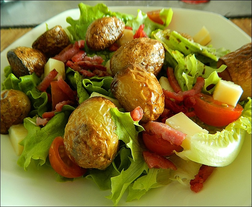 salade pomme de terre tomate cantal