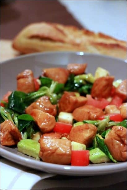 salade poulet avocat