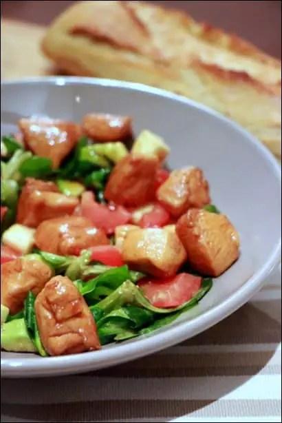 salade poulet au miel