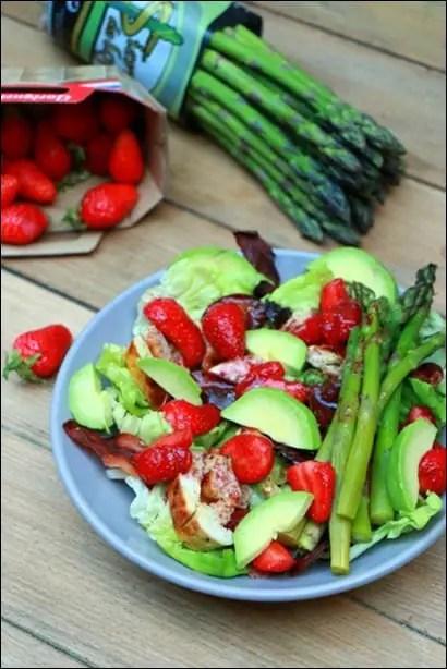 salade poulet et fraises