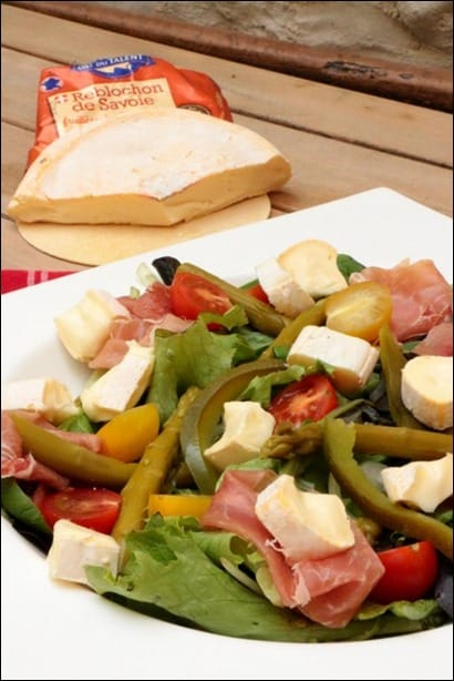 salade asperges vertes jambon cru