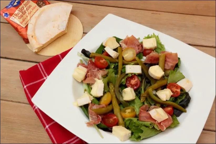 salade printanière aux asperges et reblochon