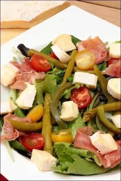 salade asperges et jambon