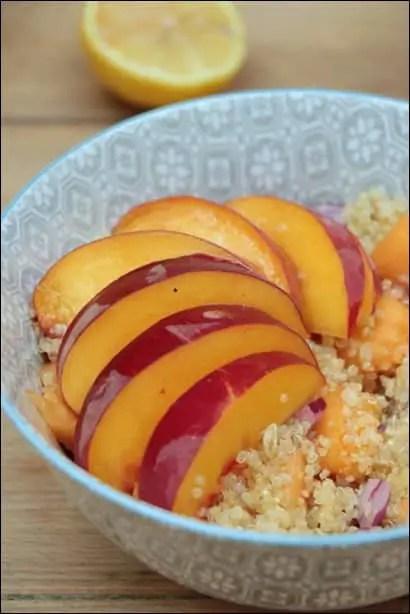 salade de quinoa nectarine
