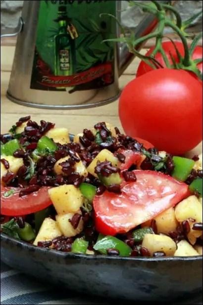 salade exotique avec ananas et riz