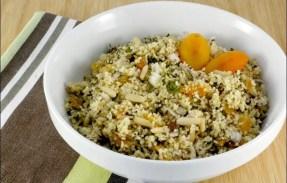 salade de semoule aux fruits secs et menthe