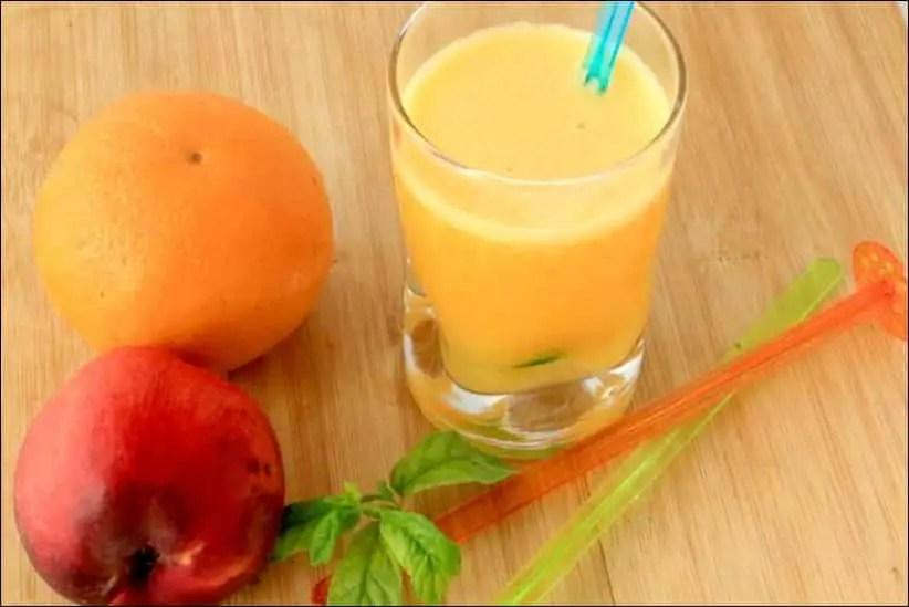 punch peche orange gingembre sans alcool