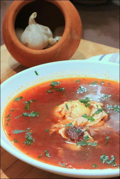 soupe chorizo oeufs