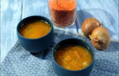 soupe de lentilles corail et butternut rôtie au romarin