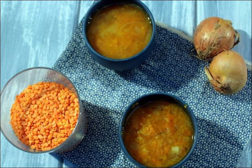 recette soupe courge butternut lentilles corail