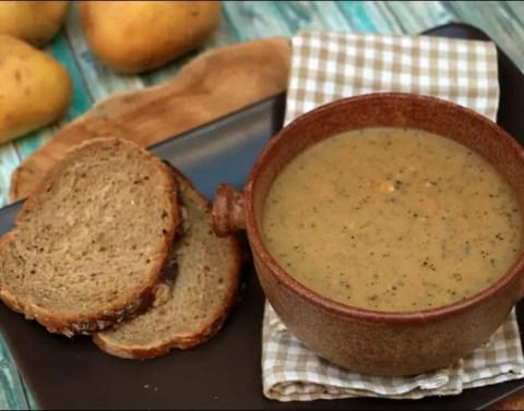 soupe de champignons au reblochon