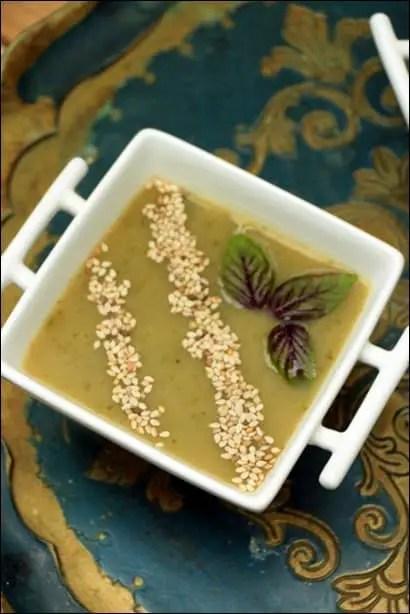 soupe froide courgette artichaut