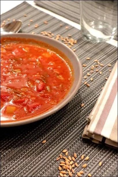 soupe d'épeautre vegetarienne