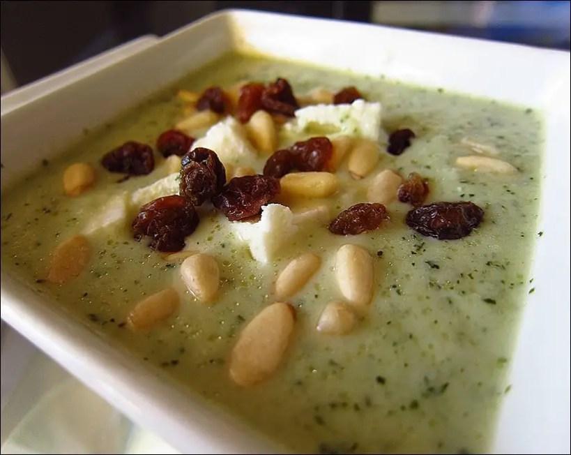 soupe froide concombre menthe