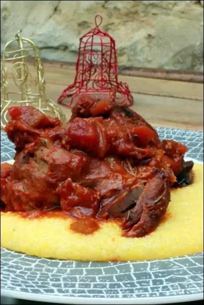 souris d'agneau a la sauce tomate