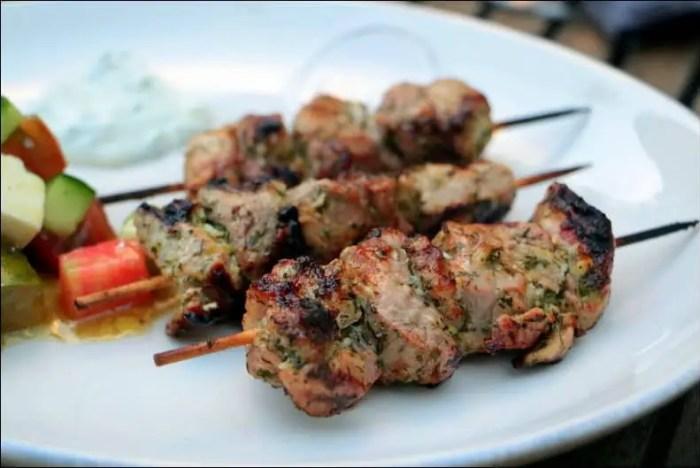 marinade brochette porc grec