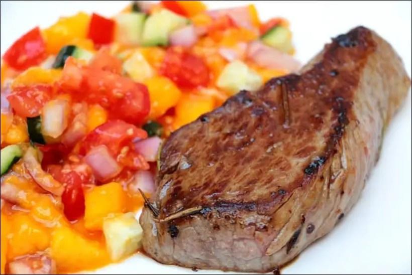 steak salsa mangue