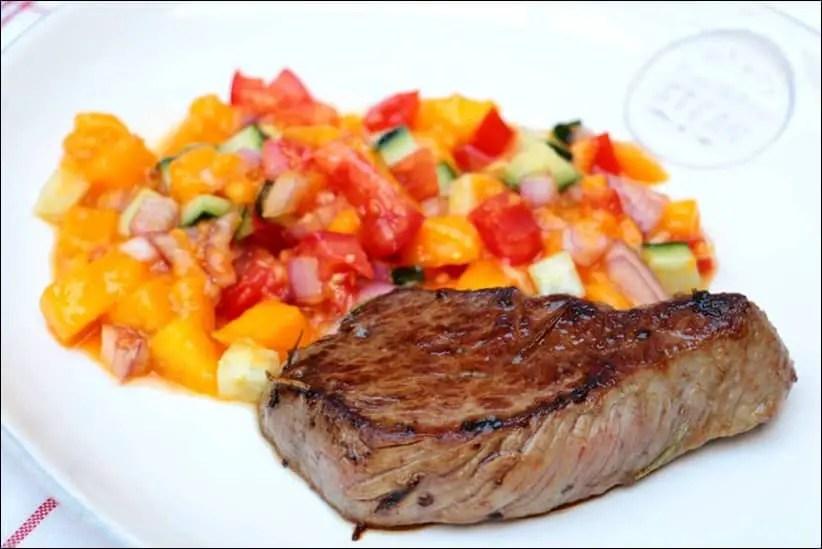 steak et salsa mangue