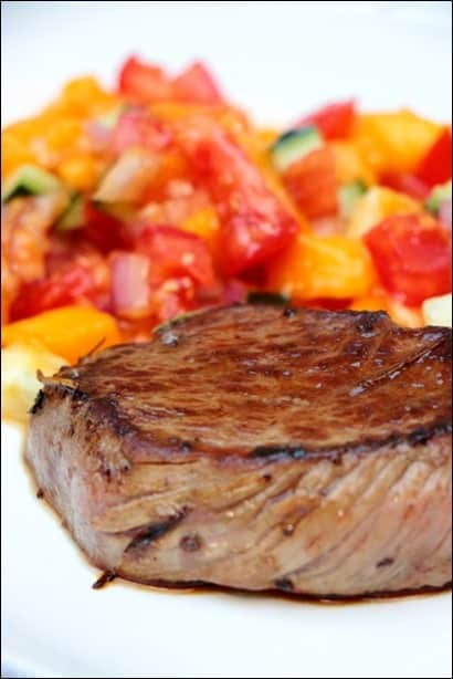 steak grillé salsa