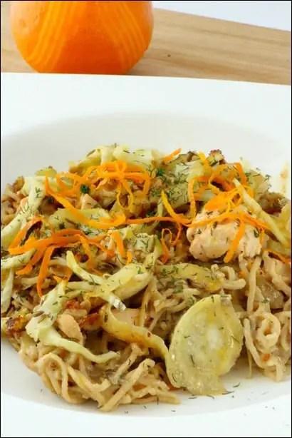 recette pates saumon fenouil orange