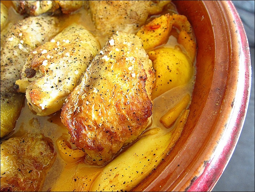 tajine de poulet aux mangues