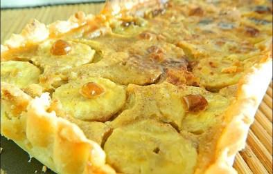 tarte à la banane et lait de coco