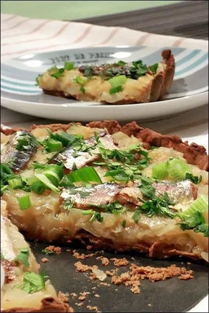 tarte aux oignons et sardines