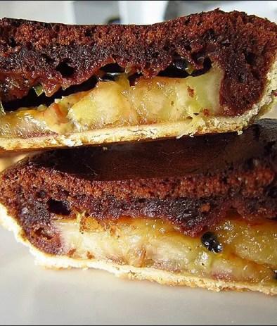 tarte au chocolat et fruits de la passion