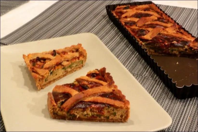 tarte courgettes épinards