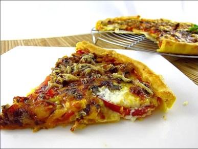 tarte à la tomate et aux sardines
