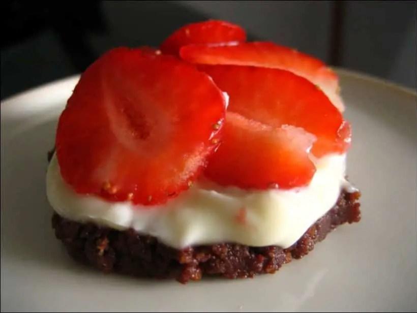 tartelettes aux fraises sur sablé de Speculoos