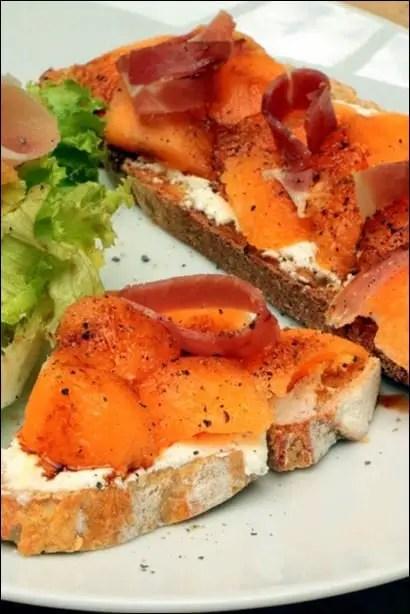 melon chevre jambon
