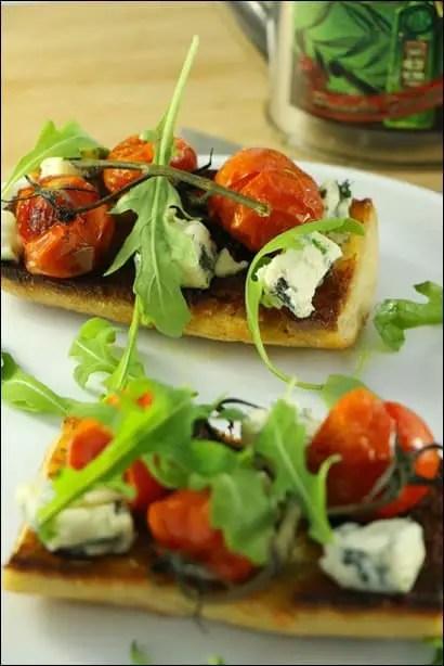 tartines tomates au four