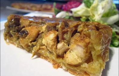 tarte tatin de poulet à l'indienne