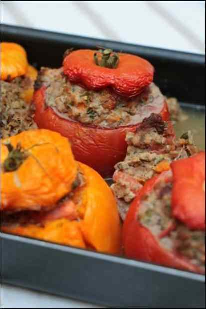 tomates farcies viande hachée aubergine