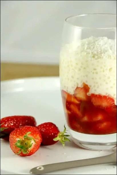 perles du japon aux fraises