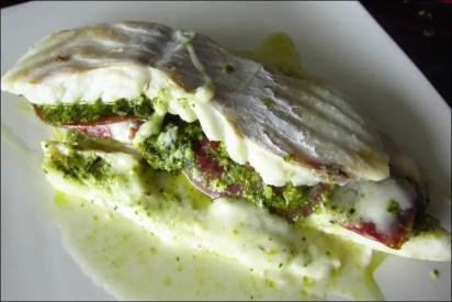 filet cabillaud mozzarella