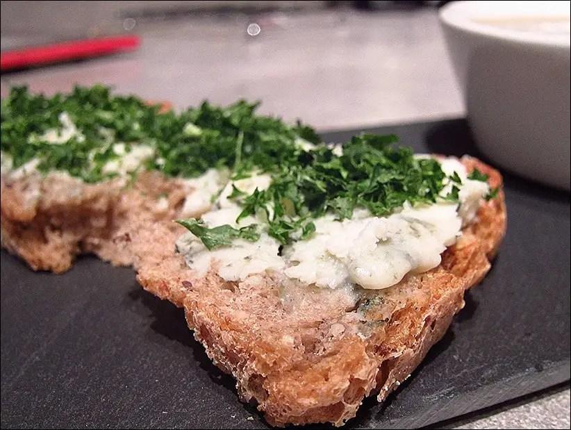 soupe lentille vertes tartines roquefort