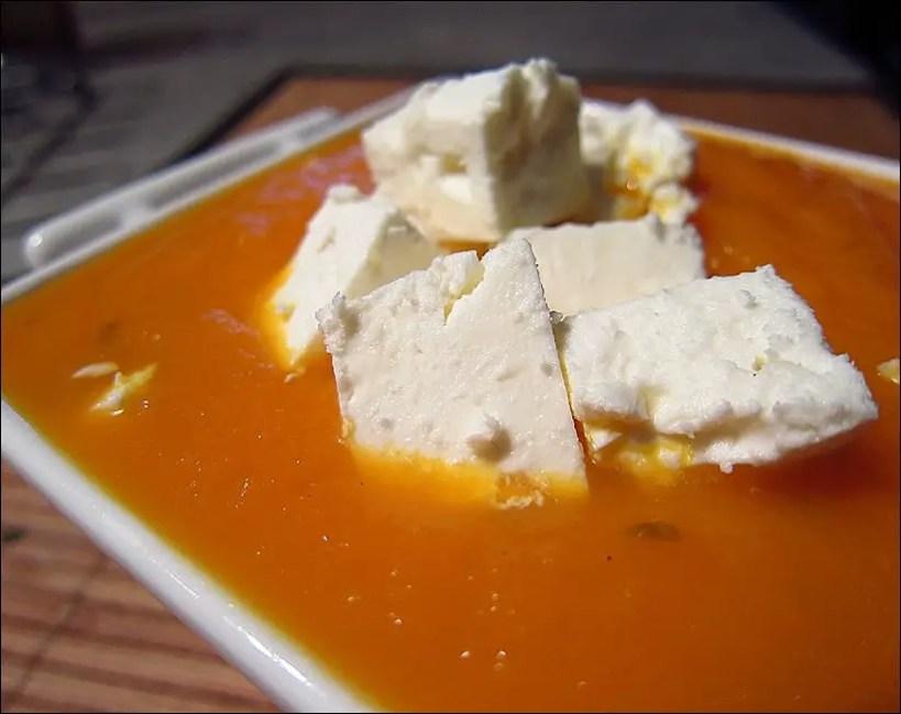 soupe froide carotte orange